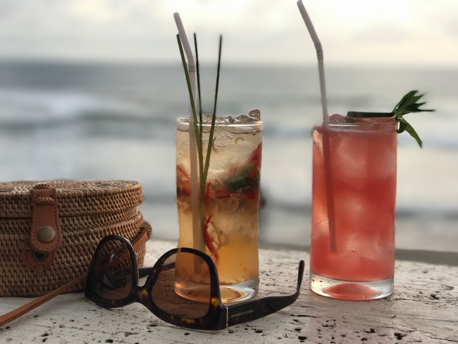 cocktails, sunset, la brisa, bali