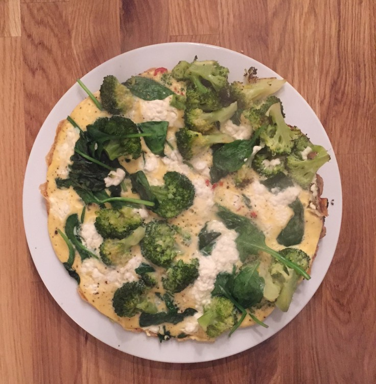 broccoli spinazie omelet