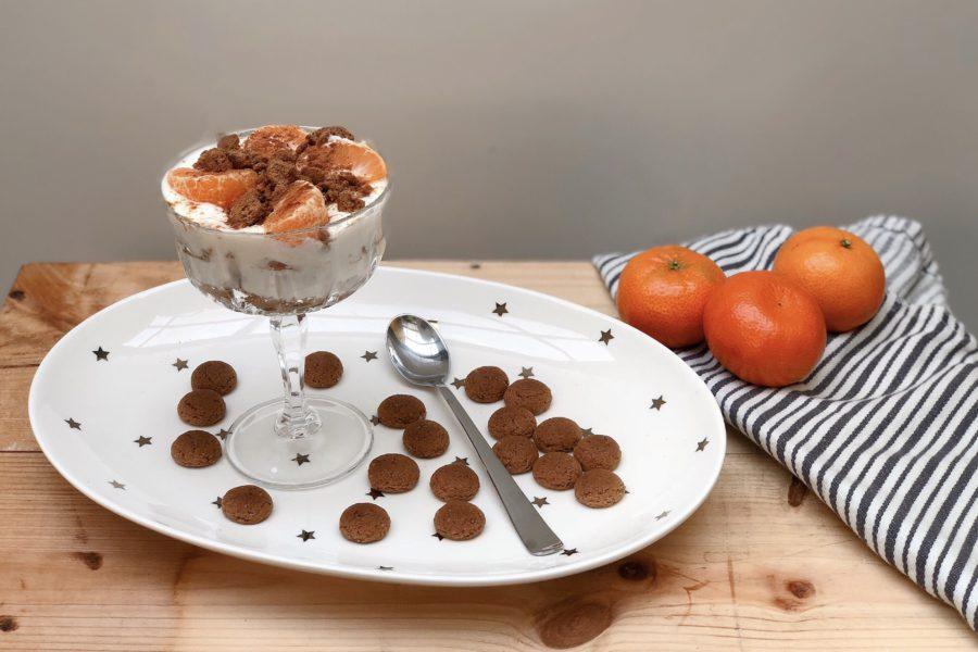 trifle met kruidnoten, sinterklaas