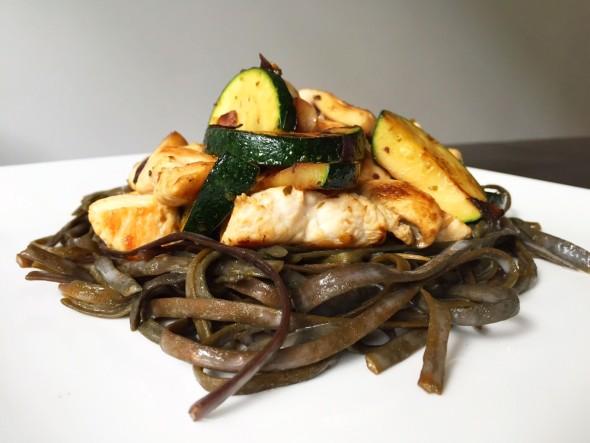 zeewierpasta met courgette I sea pasta - Seamore