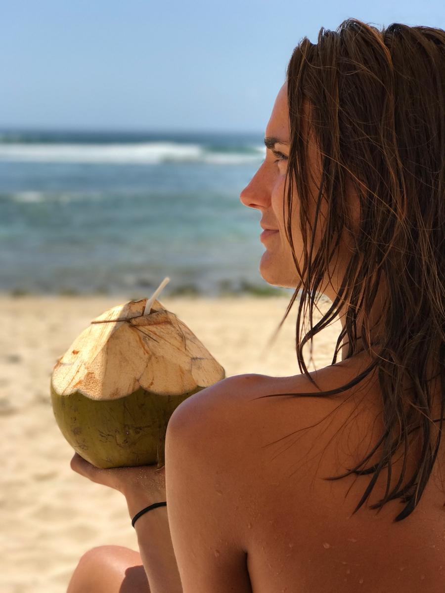 daisy, kokosnoot, bali