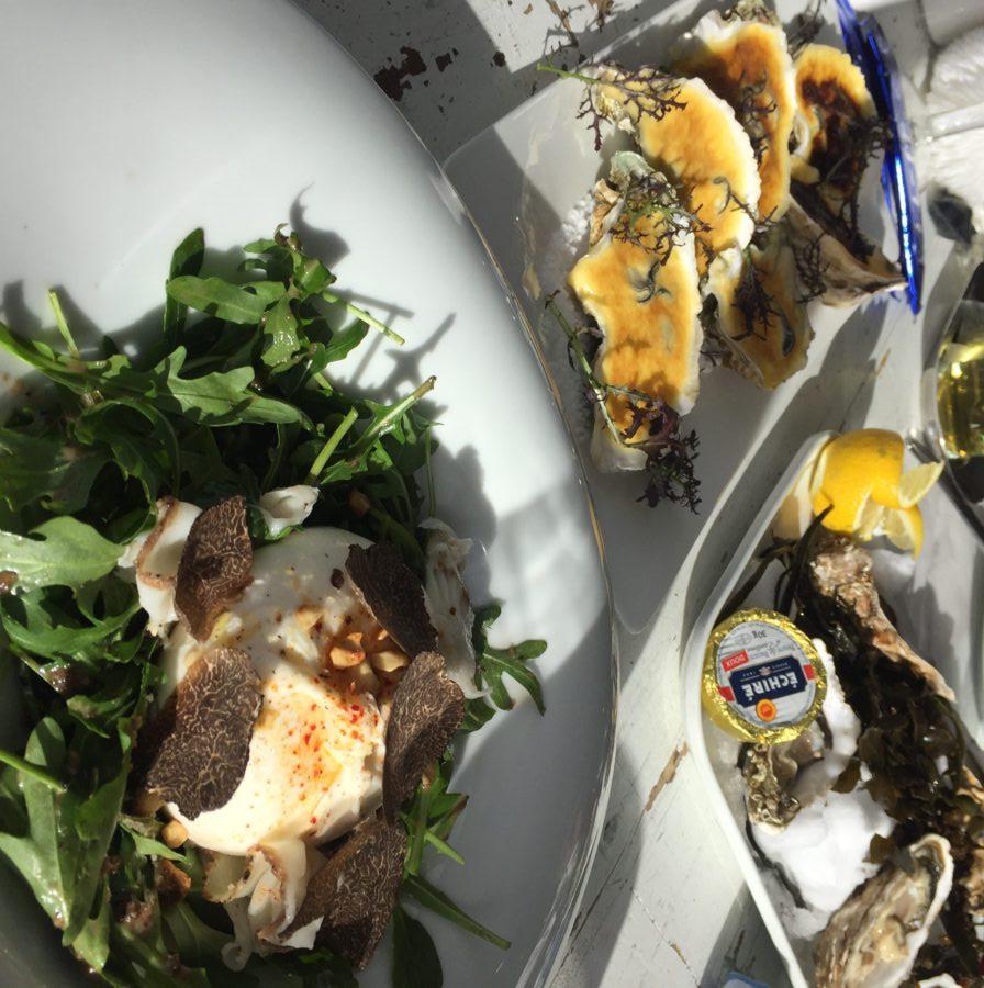 la fruitiere, la folie douce, val thorens, oesters, burrata