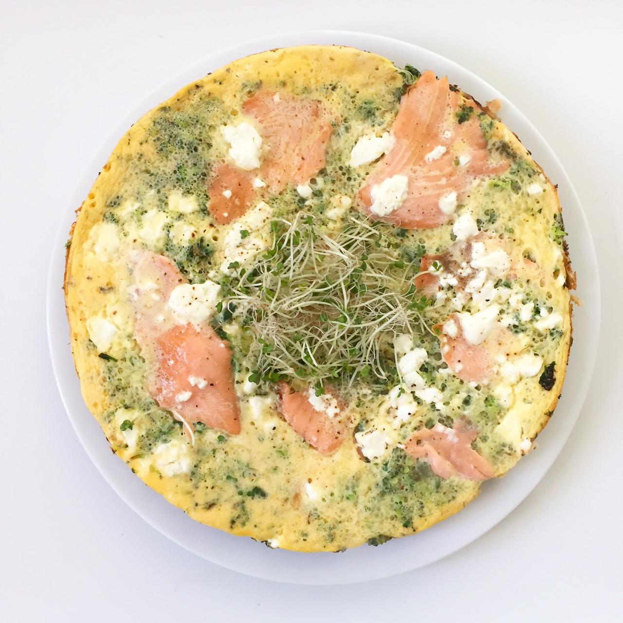 spinazie broccoli zalm omelet kiemen ul
