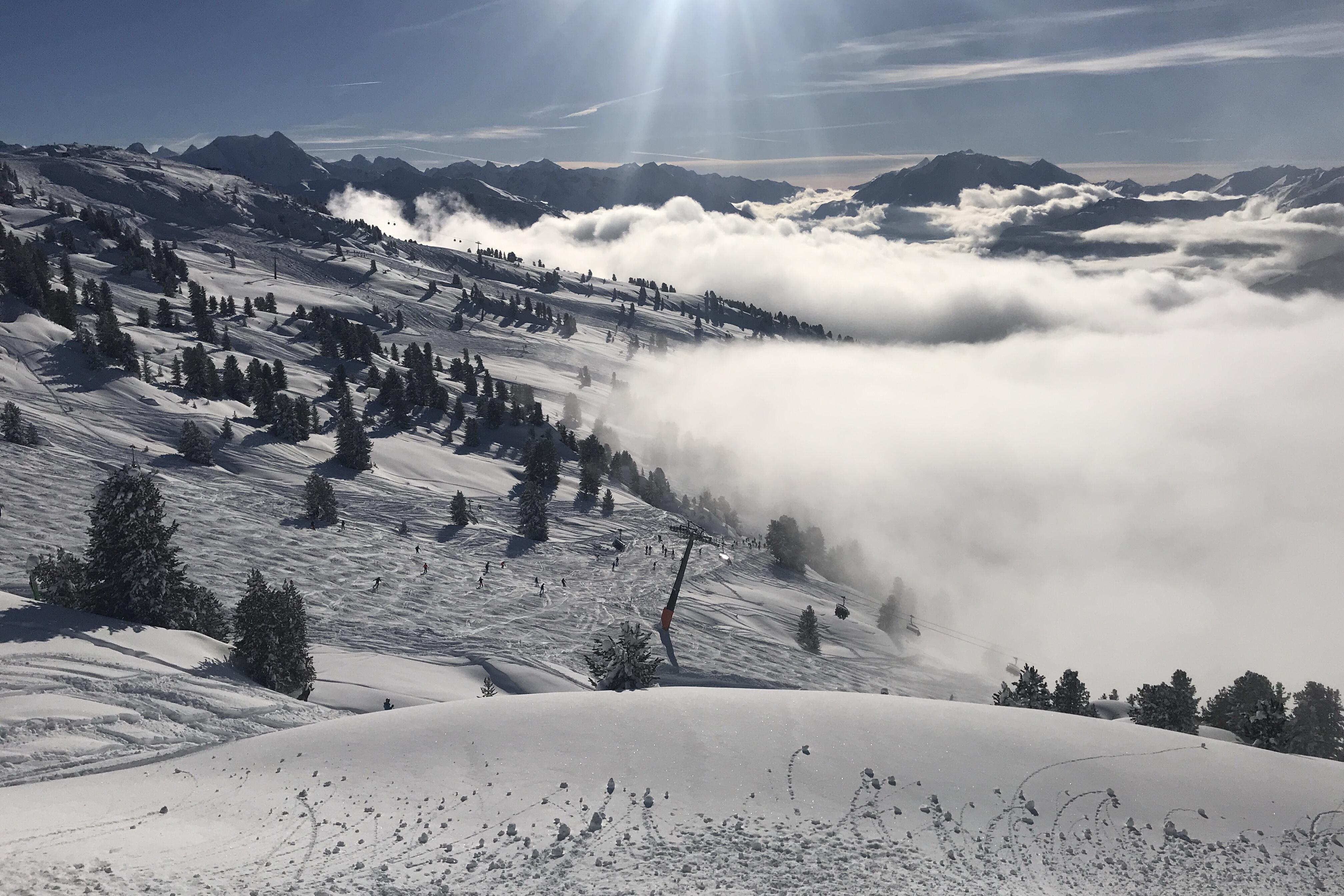 zillertal, oostenrijk, wintersport, snowboarden