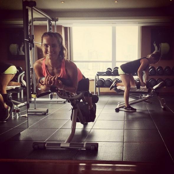 Work it work it. Gezusters Opplaar in tha gym!