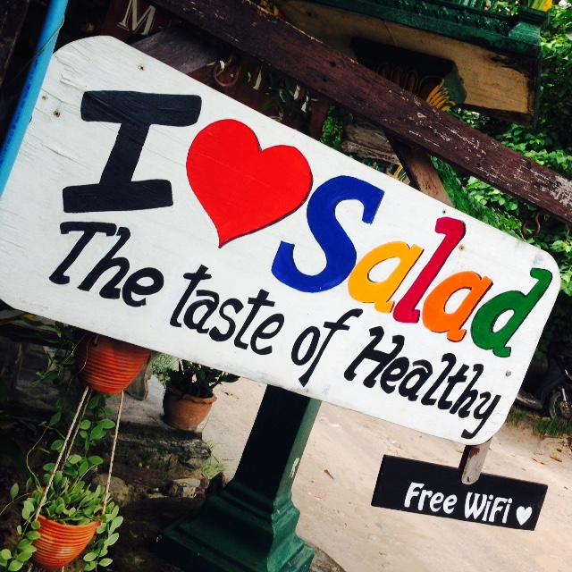 healthy koh tao - i love salad