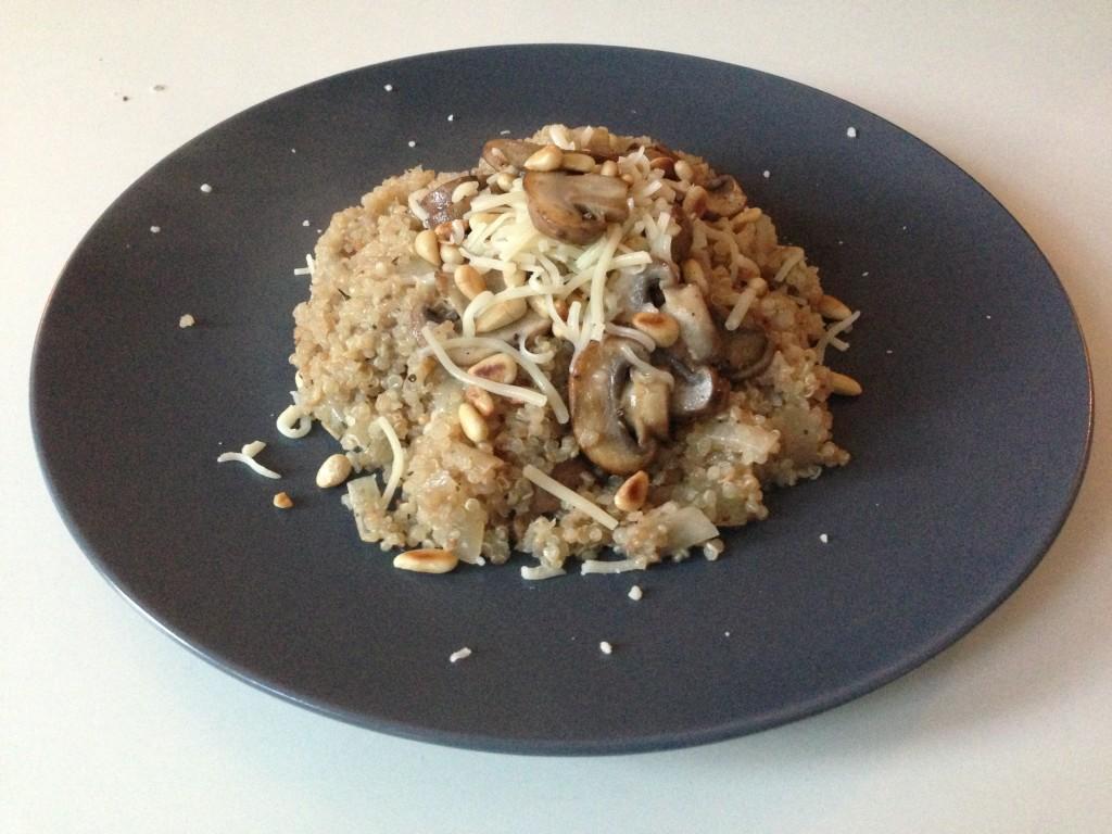 Eetdagboek quinoa risotto