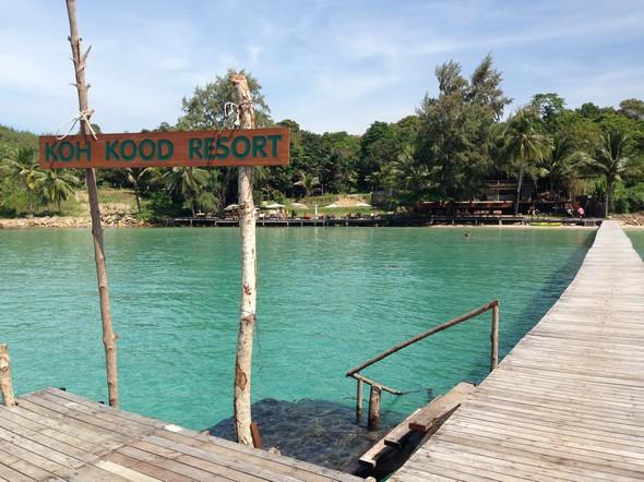 Wat een luxe! Met een speedboot van Koh Chang afgezet worden aan de privé steiger van mijn resort op Koh Kood. Love it!
