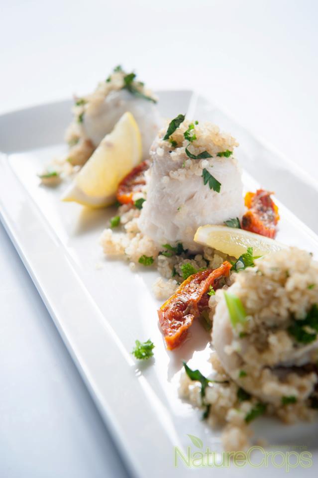 Recept quinoa visrolletje NatureCrops