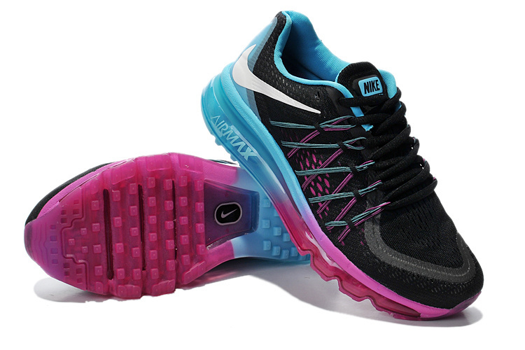 Nike Air Max 2015 Women Black Blue Purple 3
