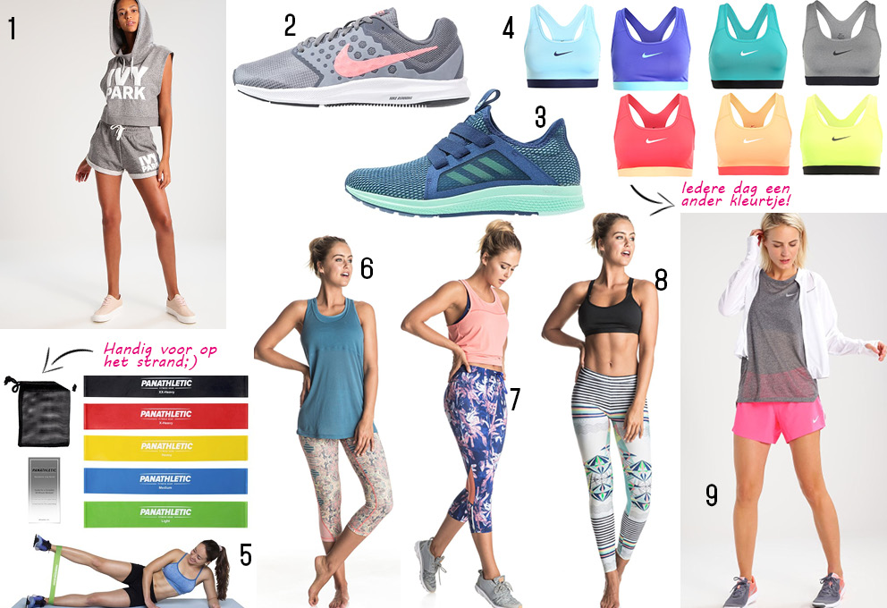 zomerse sport outfits