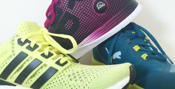 Puma, Reebok en Adidas, sportschoenen, hardloopschoenen
