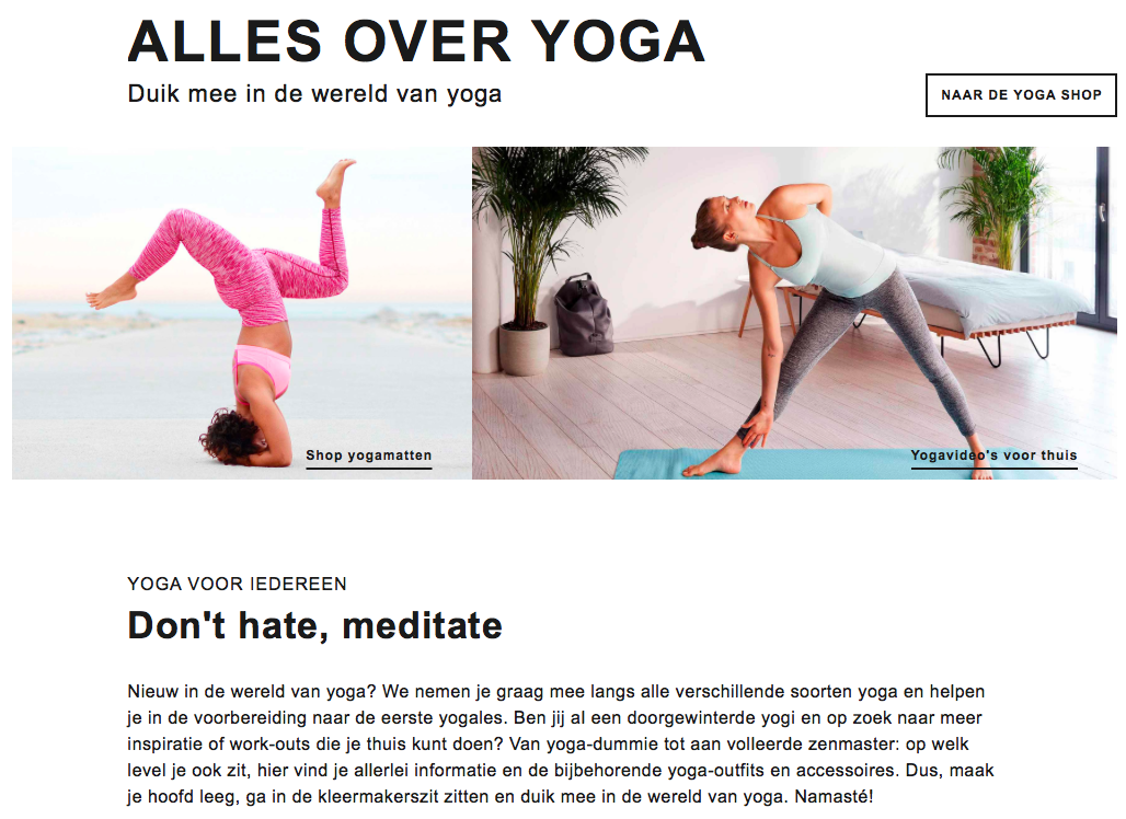 zalando we love yoga
