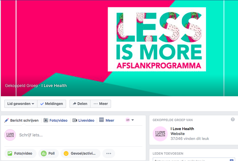 less is more Facebook groep, Less is More afslankprogramma e-book