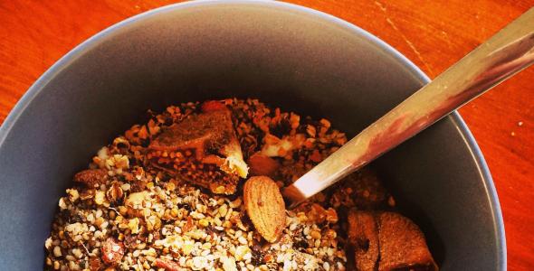 Vrijdag en zaterdag - Zelfgemaakte complete granola - eetdagboek Marte Moderne Hippies