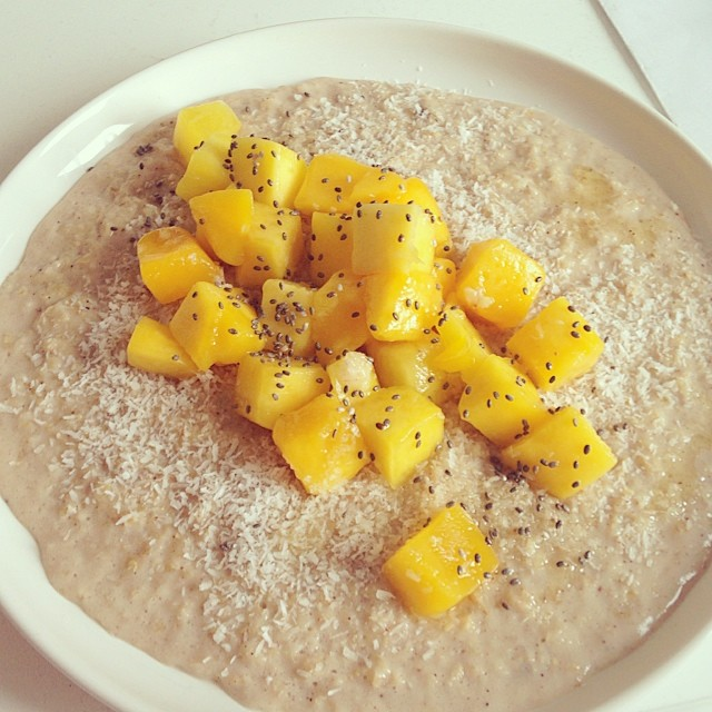 Havermout met mango