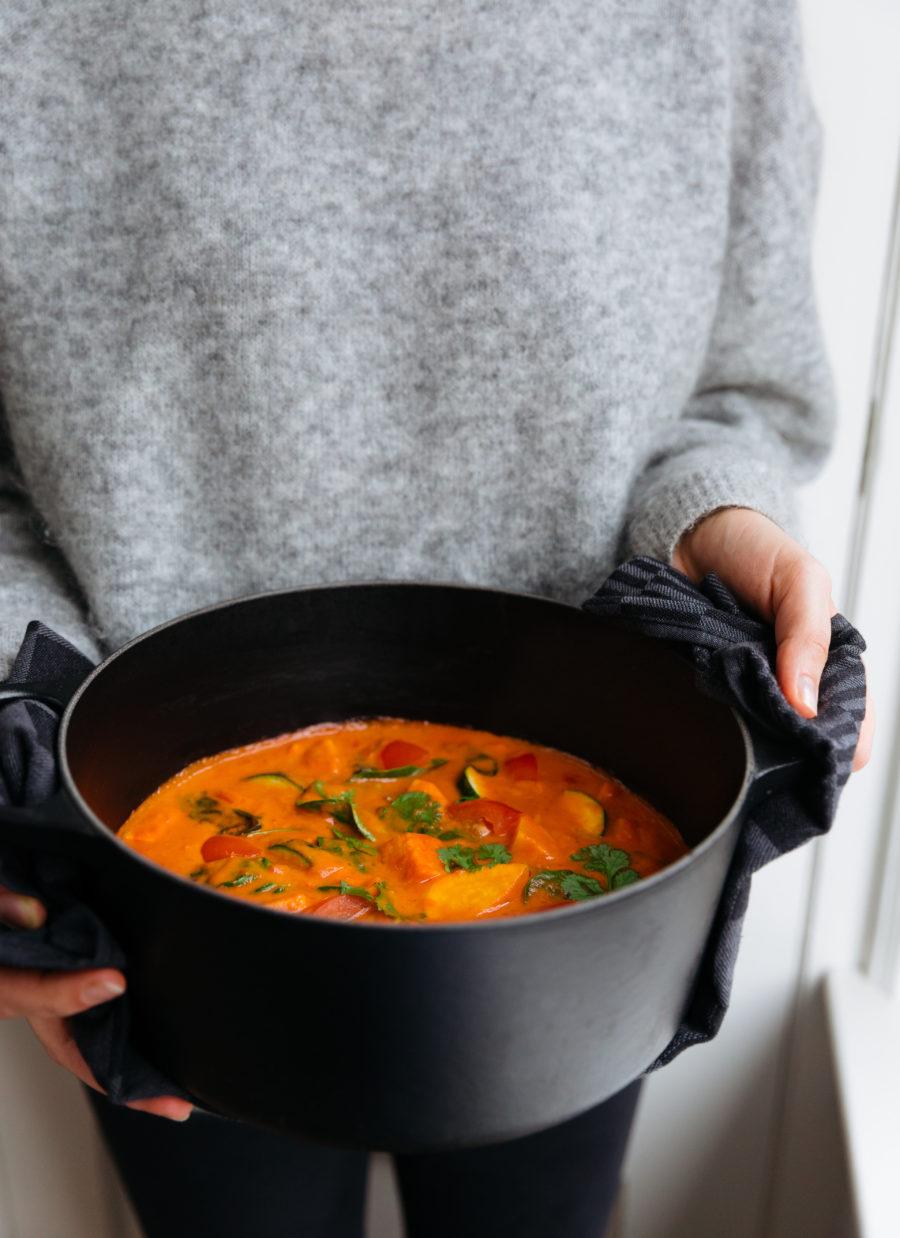 Zoete aardappelstoofpot easy vegan kookboek