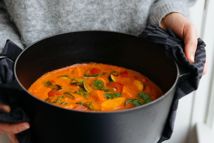 Zoeteaardappelstoofpot easy vegan kookboek