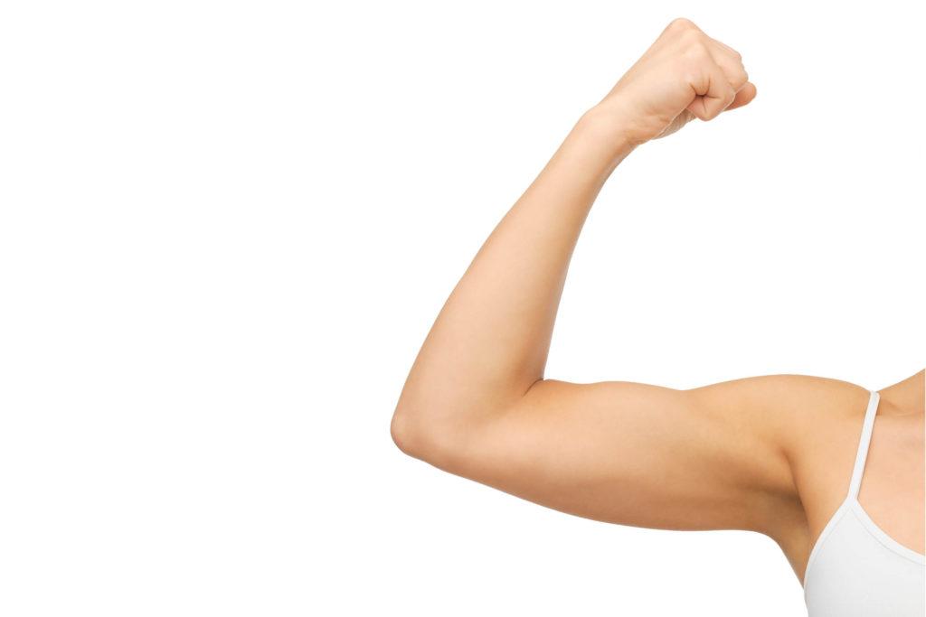 triceps, armen, strakke armen