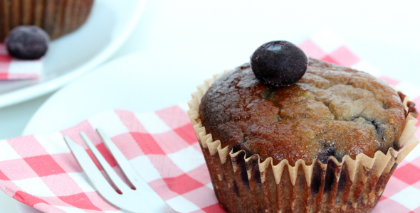 gezonde blueberry muffin
