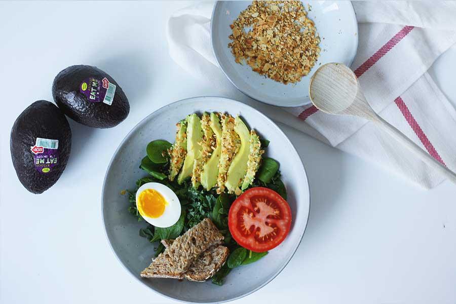 Avocado breakfast bowl met Za'atar kruiden