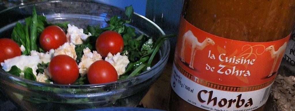 Chorba soep en salade
