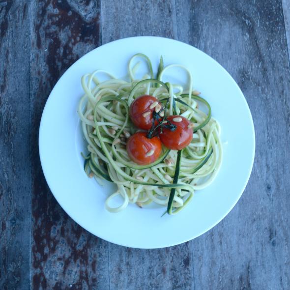 Courgetti recept, pasta van courgette