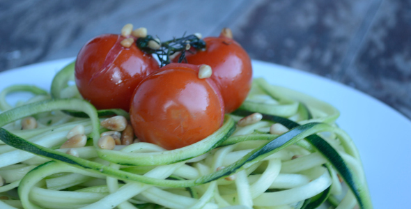 Courgetti recept, pasta van courgette