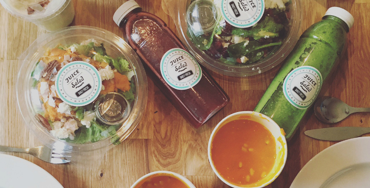 deliveroo lunch juice & salad