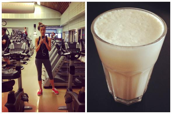 fitness + eiwit shake