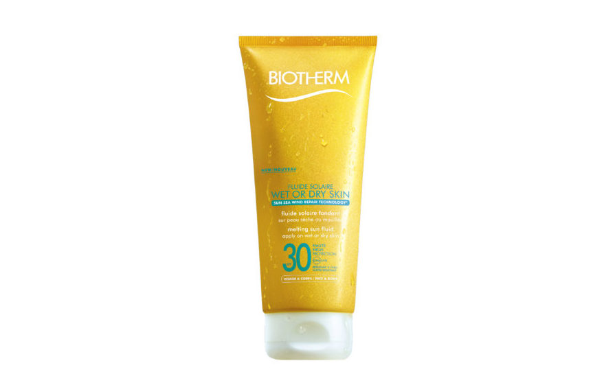 fluide solaire wet or dry biotherm, Fluide Solaire Wet or Dry Skin