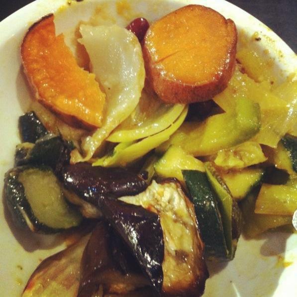 Gegrilde groenten uit eetdagboek