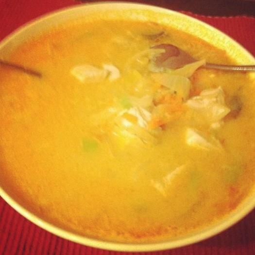 Wortel pompoen soep uit eetdagboek