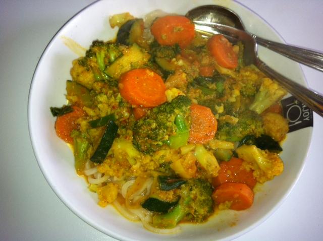 Gewokte groenten eetdagboek