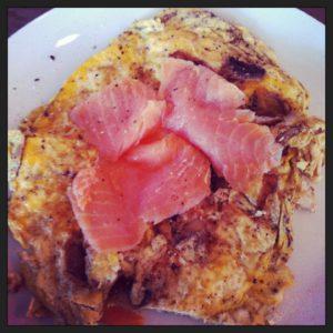 Eetdagboek: Omelet met gerookte zalm als ontbijt