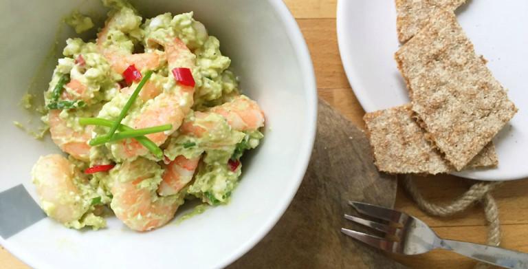 garnalen avocado salade