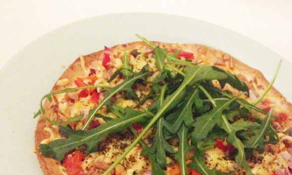 gezonde en snelle pizza
