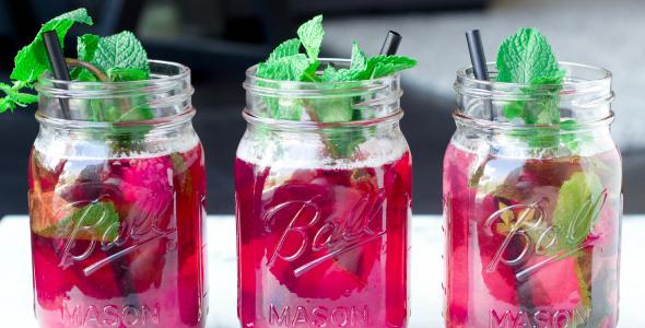gezonde limonade met framboos