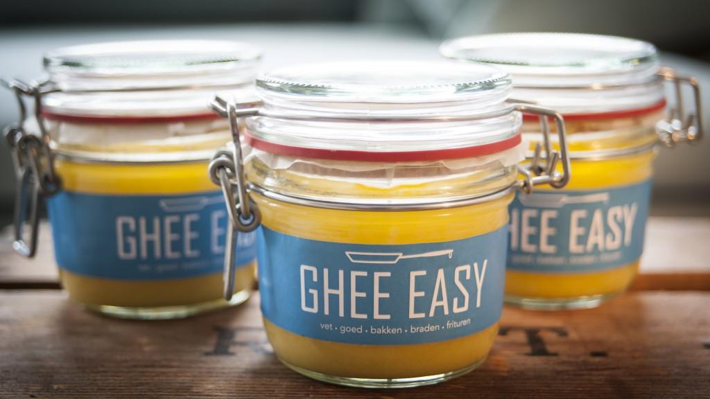 Ghee van het merk Ghee Easy. Ghee draagt bij aan een goede spijsvertering.