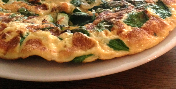 groente omelet met courgette en spinazie