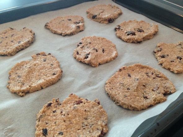 havermoutkoekjes voordat ze in de oven gaan - recept