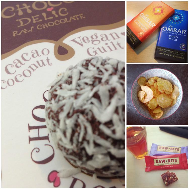 Wie zegt dat je niet lekker en gezond kunt snacken!??! Zie hier het bewijs: raw coconut bonbons, raw choco reepjes van Ombar, ambachtelijke naturel chipjes en Raw Bite reepjes. Love them alllll!
