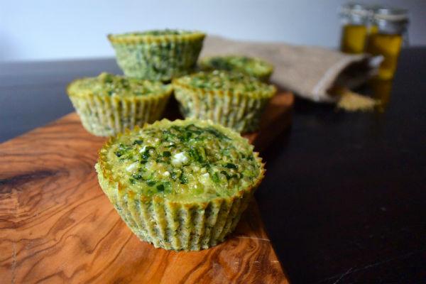 ei muffins spinazie hüttenkäse