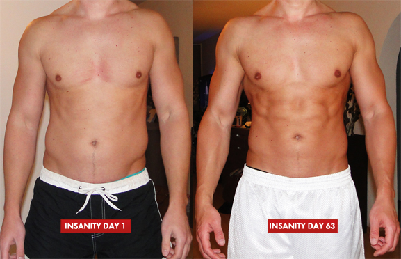 Insanity Workout before after