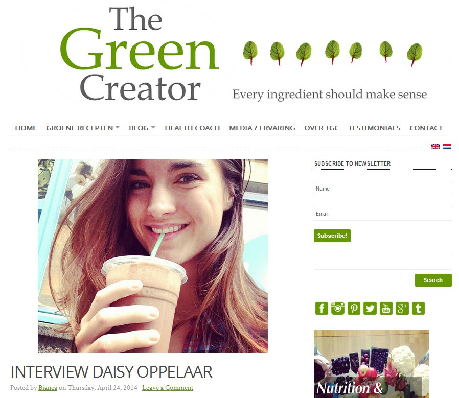 Interview Thegreencreator.nl