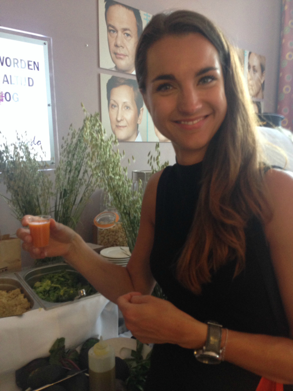 juice & salade in giftsuite
