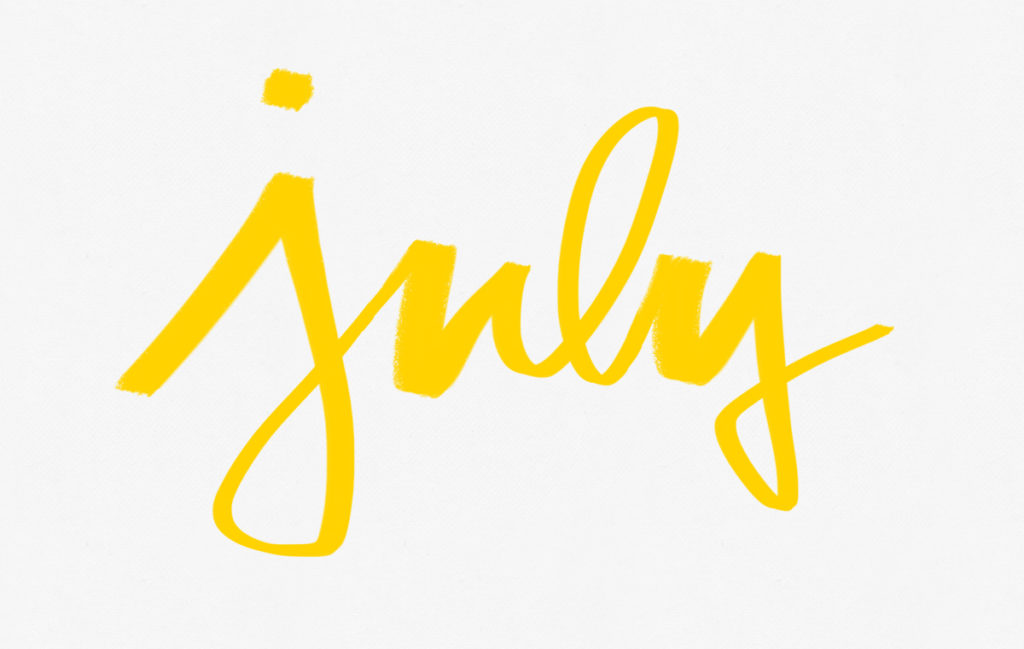 july, what's new