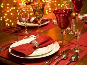Diner tijdens de feestdagen