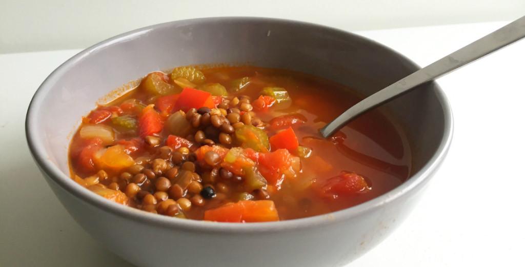 linzensoep met paprika, budget recepten