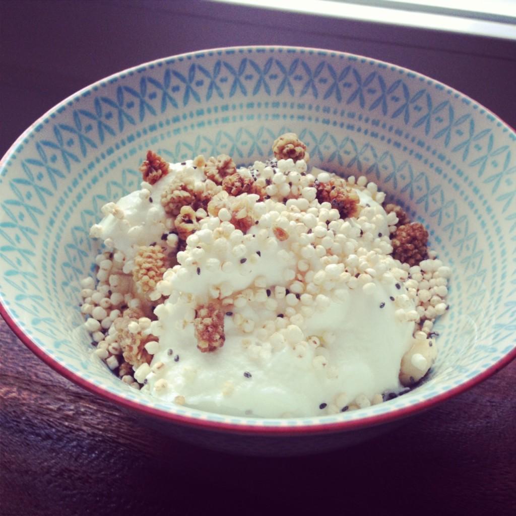 gepofte quinoa ontbijt no sugar challenge